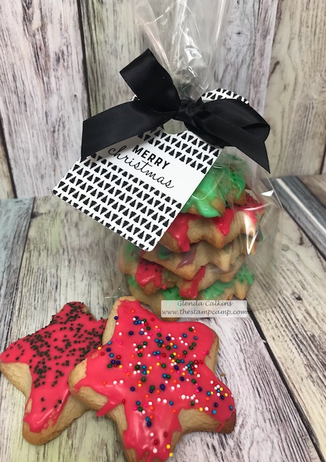 Using the Cozy Tags to decorate some Cozy Treats for your Christmas Gift Giving. Details can be found here: www.thestampcamp.com #giftgiving, #christmas, #FSJ, #thestampcamp
