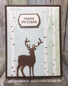 Deer in the Forest Embossing Folder makes a great masculine card for any occasion. Available through the links on my blog: www.thestampcamp.com #Spellbinders, #masculine, #embossing, #thestampcamp