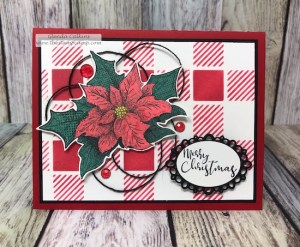 The Christmas Sprig stamp from Fun Stampers Journey works great with the Wink of Stella pens; so pretty and sparkly. The elegant oval is from Spellbinders. Supplies can be found at shop.thestampcamp.com #spellbinders, #fsj, #thestampcamp, #winkofstella, #stencil