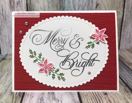 This is the Most Wonderful stamp set from Fun Stampers Journey along with the Merry & Bright plate from Spellbinders using the Glimmer Machine. details www.thestampcamp.com #fsj, #spellbinders, #thestampcamp, #christmas