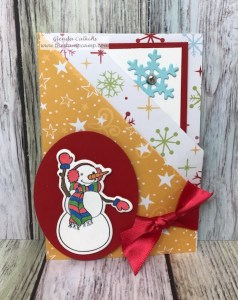 Double Pocket Gift card holder can hold 2 gift cards or a card and gift card. details: thestampcamp.com #fsj, #thestampcamp, #giftcardholder, #funfold
