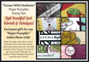Paper Pumpkin is a box of crafting delivered to your front door monthly! Get your subscription today at www.thestampcamp.com #stampinup #thestampcamp #paperpumpkin