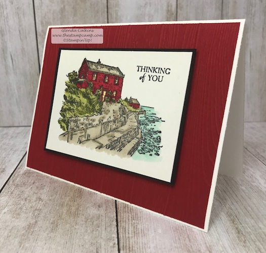 This is the By the Bay stamp set from Stampin' Up! FREE with a min. $50.00 order.  Details on my blog: www.thestampcamp.com available until the end of March 2019 #stampinup #thestampcamp #saleabration #bythebay