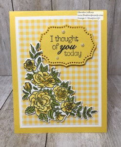 This is the Climbing Roses in Daffodil Delight. Such a bright fun Spring Color. Can you tell I'm ready for Spring? Details www.thestampcamp.com #stampinup #saleabration #thestampcamp #Roses