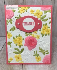 Country Floral Embossing Folder Techniques