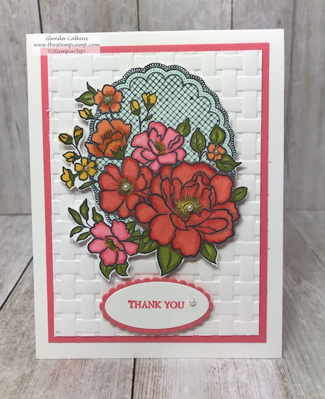 Multi-colored Lovely Lattice using the Blends from Stampin' Up!  The Lovely Lattice stamp set is free with a min. $50.00 order.  See my blog for details: www.thestampcamp.com Deal ends March 2019 #thestampcamp #stampinup #saleabration