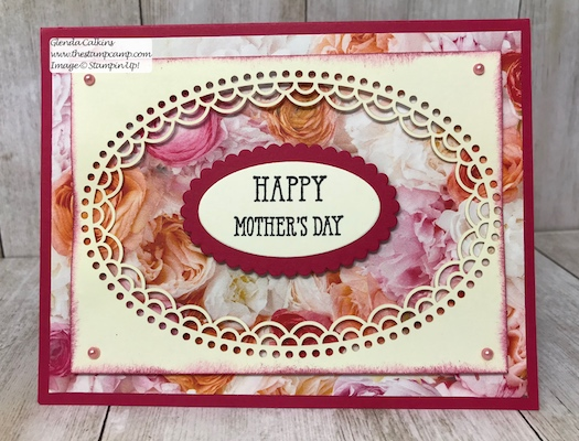 This intricate paper is part of the Delightfully Detailed Laser-Cut Specialty papers from Stampin' Up! Details on my blog: www.thestampcamp.com #mothersday, #stampinup #thestampcamp #handmadecards