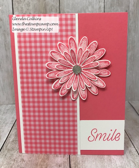 This is my featured stamp set for June it is the New Daisy Lane Bundle and I also added the Daisy punch. The bundle has the smaller Daisy punch in it. Details on my blog: https://wp.me/p59VWq-acu #stampinup #thestampcamp #daisylane #stamps