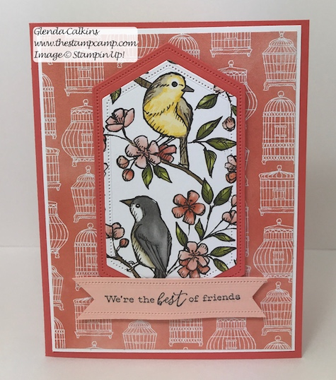 This is the Free As A Bird Bundle from Stampin' Up! This is my featured stamp set for July. Details can be found here: https://wp.me/p59VWq-abl #thestampcamp #stampinup #freeasabird #birdballad