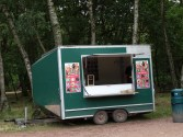 Robbing from the poor - refreshment wagon at Major Oak