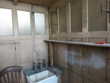 the bathroom - located between floors