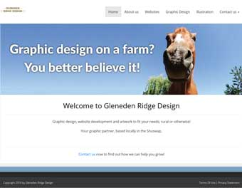 Gleneden Ridge Design - graphic design and websites, local in the Shuswap.