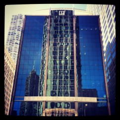 Sun is out today: a lot of reflected buildings.