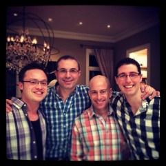 Check-shirt fiesta @ The Metser-Friedmans'. 25 Jan 2014.