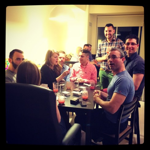 A game of Cards Against Humanity began at 21:00. 3 May 2014.
