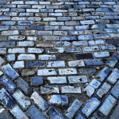 Why are the bricks blue?