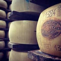 Parmigiano-Reggiano D.O.P. factory, Modena, Italia.