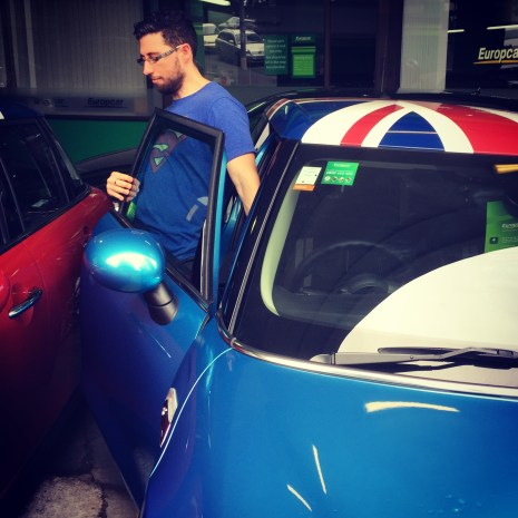 We had to hire the blue Mini