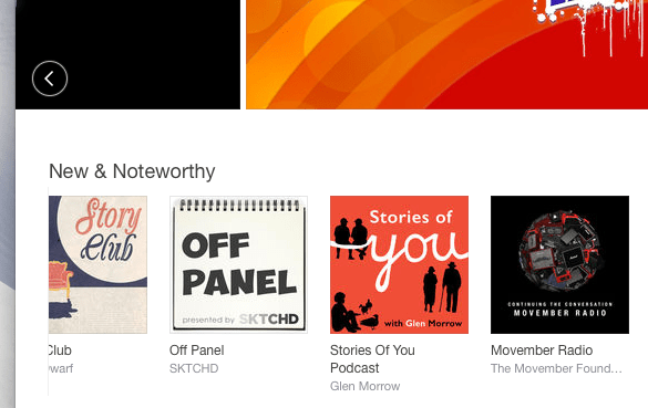 Podcast in New & Noteworthy on iTunes