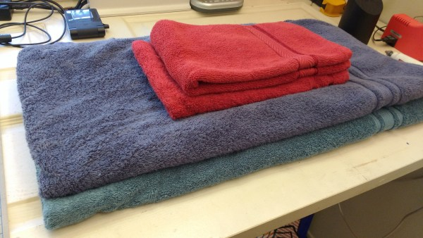 photo of folded towels