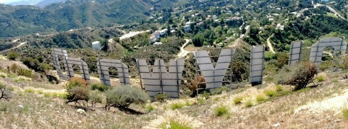 photo of the backside of the Hollywood Sign