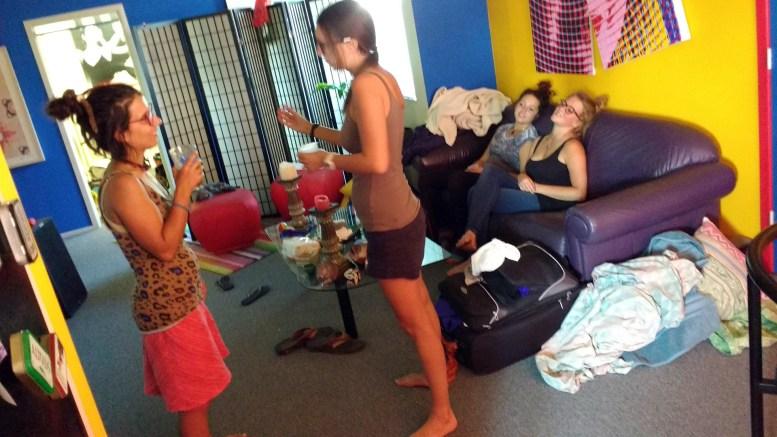Isnaya, Lara, Zeinab & Stefanie in the Sonthofen Ski Lodge
