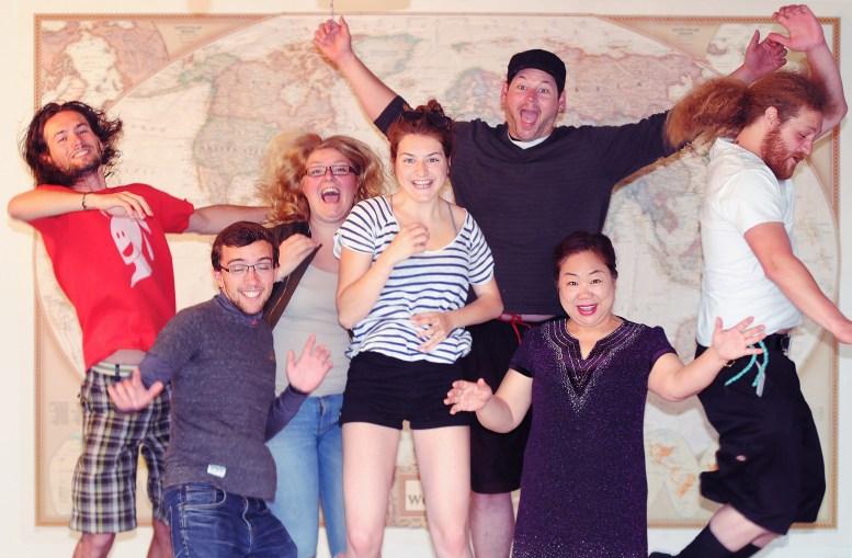 Quentin, Gaston, Tamara, Claire. Paul, Xiaoyan & Andy