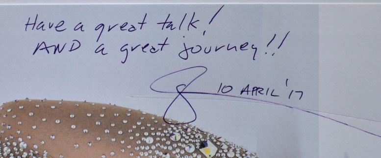 Glenn Zucman's signature, 10 April 2017