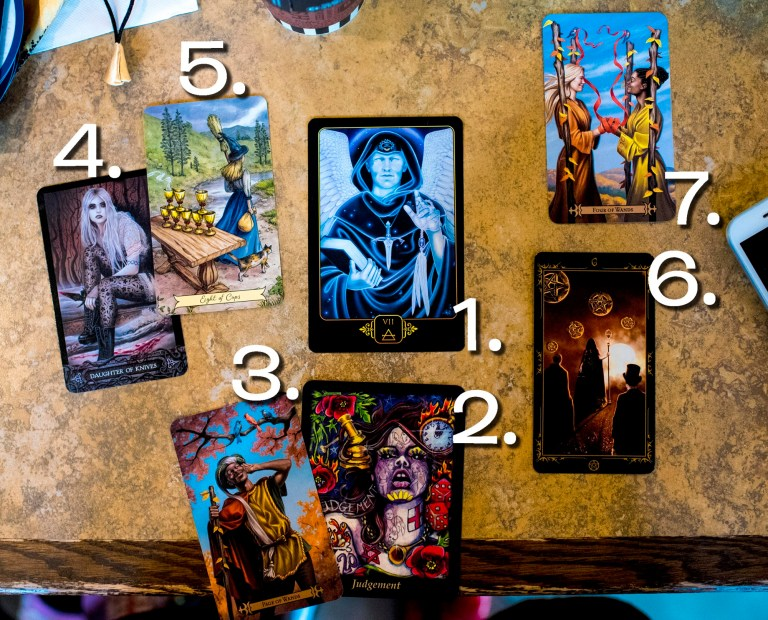 photo of 7 tarot cards