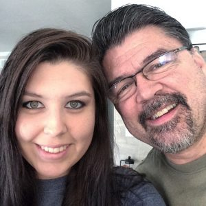 photo of Ricki and her dad in an Instagram selfie