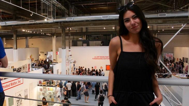 Dominique Gomez at the LA Art Book Fair
