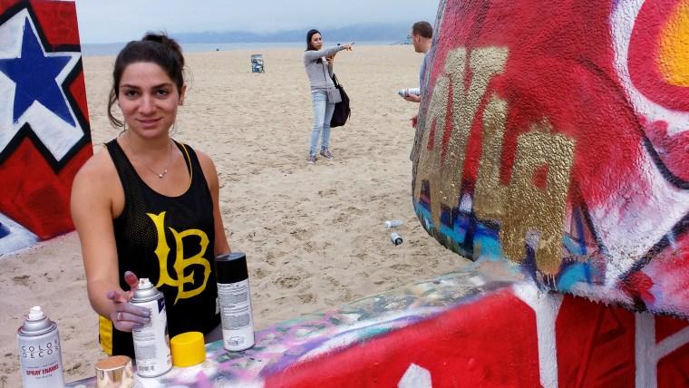 Layla Hadidi, Summer '16, at the Venice Beach Art Walls