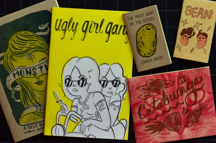 some zines from Tiny Splendor Press that I bought at Small World Books