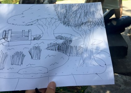 Sketching in the CSULB Japanese Garden