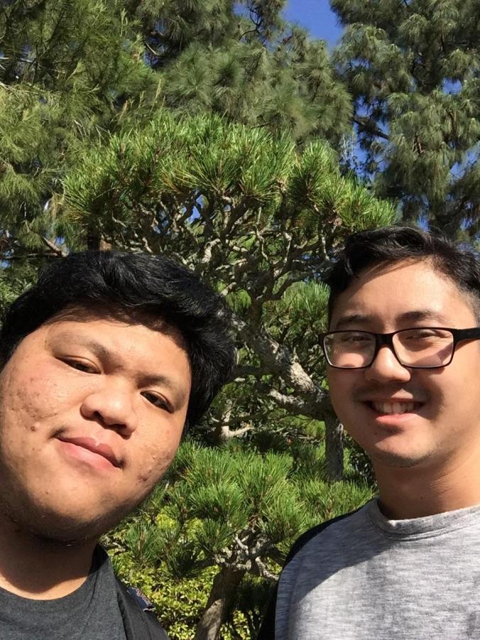 Felix Huynh & Darryl Nguyen in the CSULB Earl Burns Miller Japanese Garden