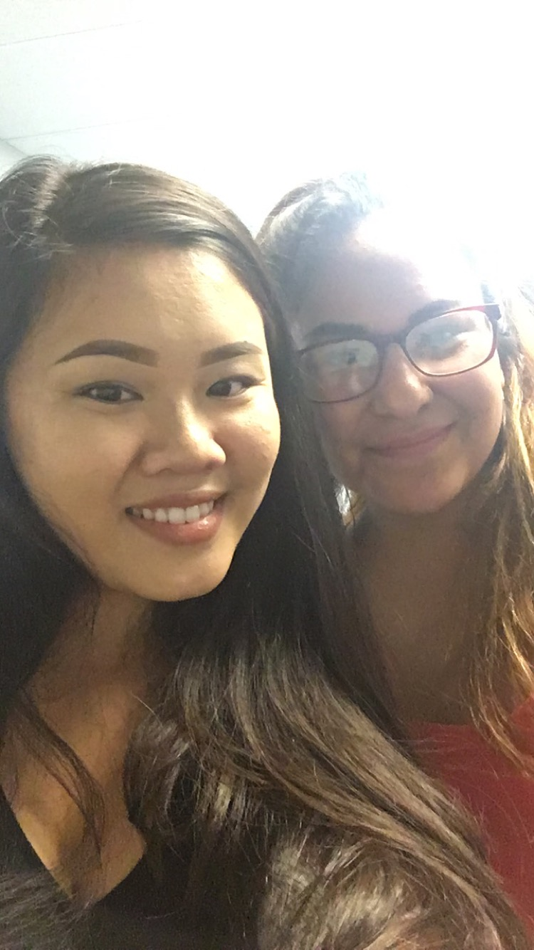 closeup selfie of Tiffany Phan and Maria Leon
