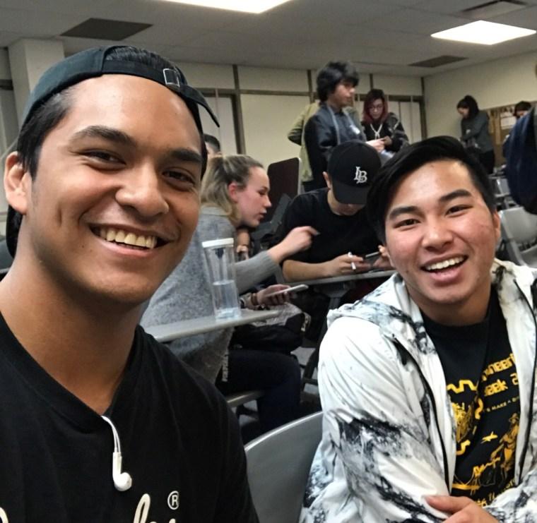 Joseph & Khanh smiling in CSULB Classroom FA4-311