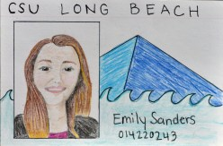 a drawing of a CSULB Student ID Card by Emily Sanders, September 2017