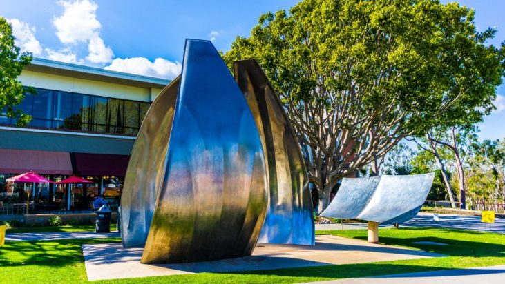 """""""Now"""" sculpture as installed on the campus of Long Beach State University"""