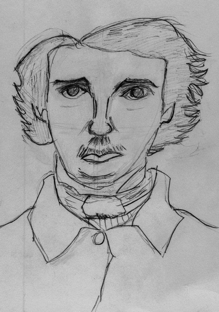 pencil drawing of Art 110 sage Mark