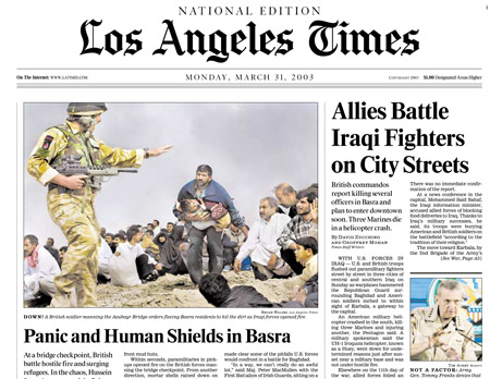 LA Times cover photo by Brian Walski.