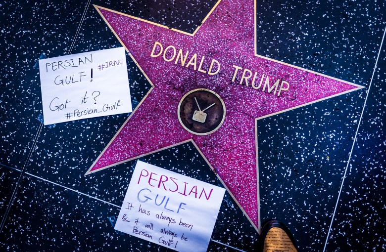 Donald Trump's Star on Hollywood Boulevard. 18:31:01 PDT