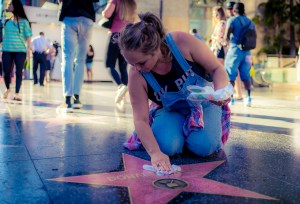 Donald Trump's Star on Hollywood Boulevard. 34.101595, -118.339602