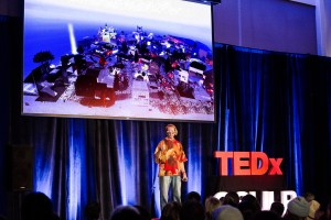 Glenn Zucman speaking at TEDxCSULB 2017. Photo: Trang Le