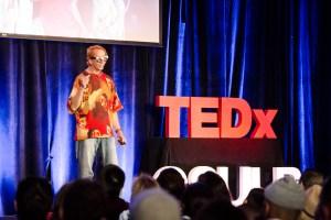 Glenn Zucman speaking at TEDxCSULB 2017. Photo: Trang Le