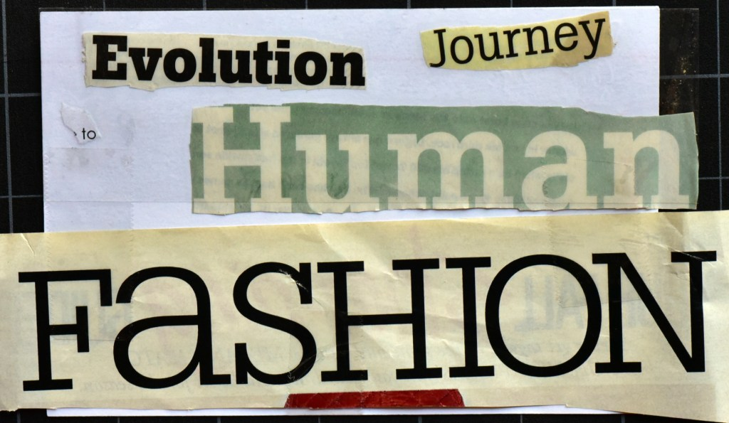 Evolution journey to human fashion