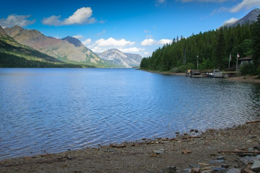 Looking north toward the Waterton townsite.