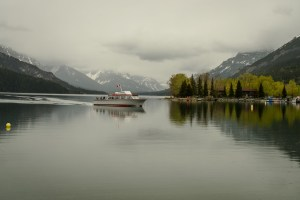 One of the Waterton tour boats
