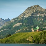 Approaching Waterton Townsite