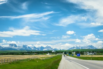 Cardston, on the way to the park